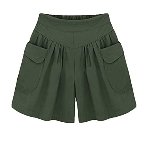 Pantalones Cortos Casuales Mujer Verano Cintura EláStica Pantalones Cortos Sueltos