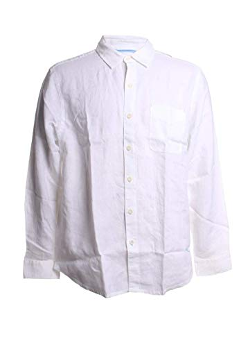 Tommy Bahama Sea Glass Breezer Long Sleeve Shirt White LG