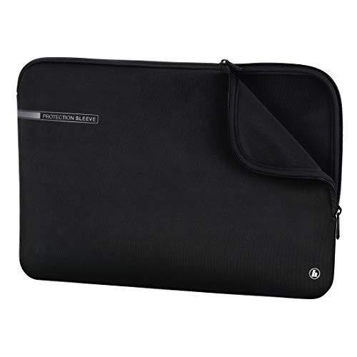 """Hama Laptoptasche \""""Neoprene\"""" mit Kratzschutz (Notebook Tasche für Damen und Herren, widerstandsfähige Laptophülle mit weichem Innenfutter, 40 cm, 15,6 Zoll) schwarz"""