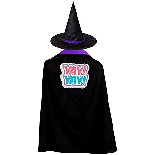 RJ Unique Hexen Mantel,Yay Yay Halloween Kostüme Hexenzauberer Umhang Mit Hut Size: S