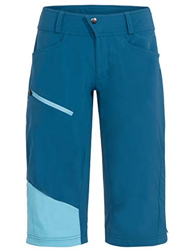 VAUDE Damen Hose Women\'s Moab Shorts III, Enduro-Shorts zum Mountainbiken, kingfisher, 38, 408403320380