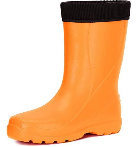 Ladeheid Damen leichte Eva Thermo Gummistiefel Regenstiefel LADW002 (Orange, 39 EU)
