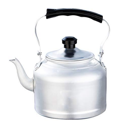 tea kettle Bouilloire Traditionnelle en Aluminium avec Un Bec Profilé, Parfaite pour La Randonnée et Les Pique-niques en Plein Air (Couleur : Silver, Taille : 3L)