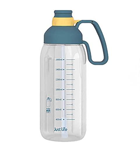 Nealpar Jarra de Agua/Botella de Gimnasio 1.8L - Sin BPA Ideal para Gimnasio, Dieta, Culturismo, Deportes al Aire Libre, Senderismo y Oficina,A