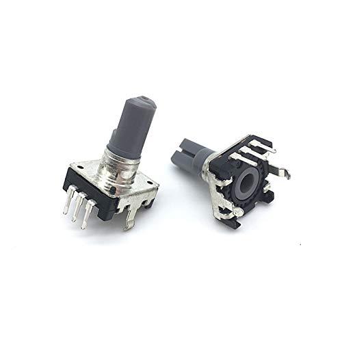 ロータリー スイッチ 5ピース360度ロータリーエンコーダEC12 RE12オーディオエンコーダコーディング3ピン24ポジションプッシュボタンスイッチハンドル長さ15mm