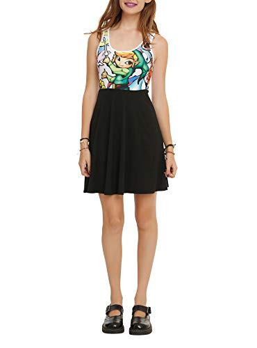 Biowòrld The Legend of Zelda The Wind Waker Stained Glass Dress (Large) Black