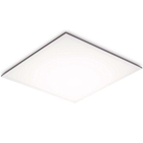 LED Panel Einbau Slim 3cm, 40W, Naturalweiss (4000K), 3400 Lm, 120 Grad, 205x SMD4014, 595x595mm für Rasterdecken Einlegeleuchte inkl. Trafo