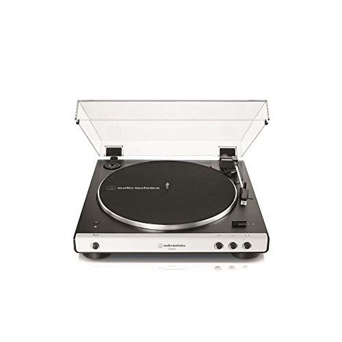 Audio-Technica LP60XBT Platine Vinyle sans Fil À ENTRAÎNEMENT par Courroie Automatique - Blanc