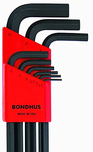 Bondhus 16099 1.5-10mm Extra Long Ball End L-Wrenches, Set of 9