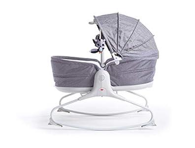 Tiny Love Cozy Rocker Napper Balancin para bebès, hamaca con Vibraciones relajantes, música y luces calmante, color Gris