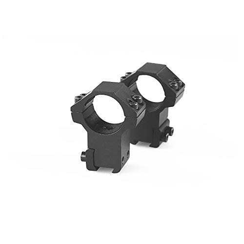 FIRECLUB 1' or 30mm Dovetail Scope Mount Rings High or Low Profile for 11mm or 20mm Dovetail Picatinny Weaver (2 Pieces)