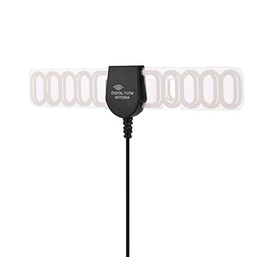DAUERHAFT Retardante de Llama Receptor de señal de señal Fuerte Amplificador de diseño Ultrafino Rendimiento Estable Antena, para TV Interior, para Radio
