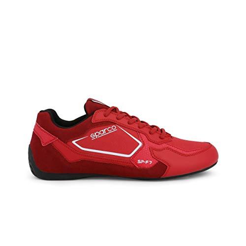 SPARCO Hombre SP-F7 Zapatillas Bajas con Cordones Rojo 44 EU