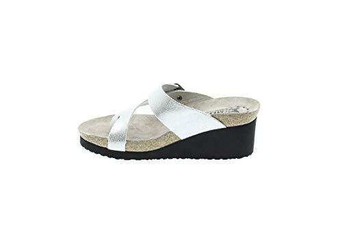 Mephisto TYFANIE CL19168 Venice Silver Flip-Flops Damen, Silber - Silber/schwarz - Größe: 38 EU