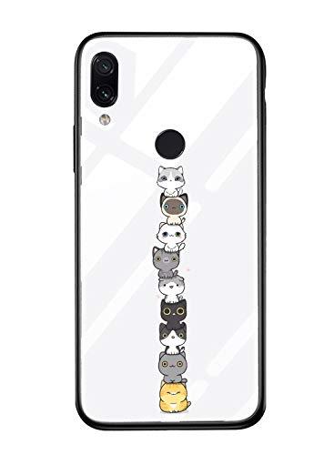 Alsoar Case ersatz für Xiaomi Mi 5s Hülle Transparent Silikon Handyhülle Durchsichtig Antikratz Schutzhülle,Gehärtetem Glas Rückseite mit Soft Rahmen Tier Süß Shell für Xiaomi 5S (Cat)