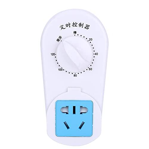 Interruptor de temporizador de cuenta regresiva Interruptor de temporizador AC 220V para pecera para bomba(120 minutes timer socket)