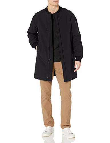 DKNY Men's Slim Fit Bomber Jacket, Black, 44 Long