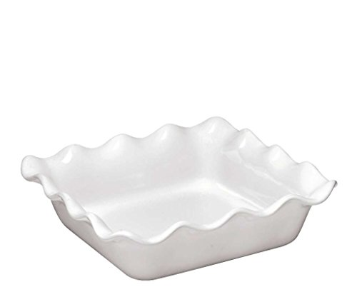 Emile Henry Urban Square Baking Dish - Ruffled - White