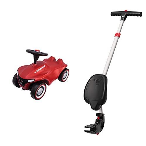 Big-Bobby-Car-Neo Rot - Rutschfahrzeug für drinnen und draußen, Kinderfahrzeug mit Flüsterreifen im modernen Design & Multi-Schubstange - 4-Fach höhenverstellbare Schiebestange