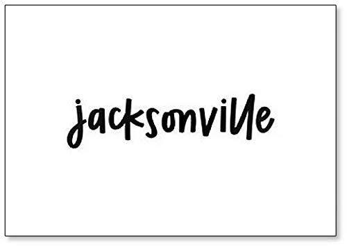 Jacksonville Aimant de réfrigérateur Typographie