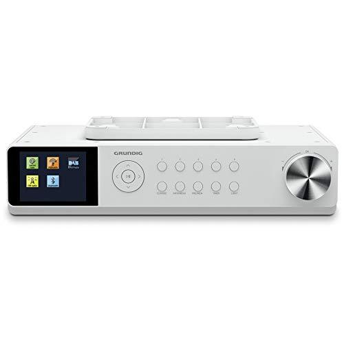 Grundig DKR3000BT DAB + WEB Küchenradio mit Bluetooth, DAB + Empfang und Internetradio Weiß
