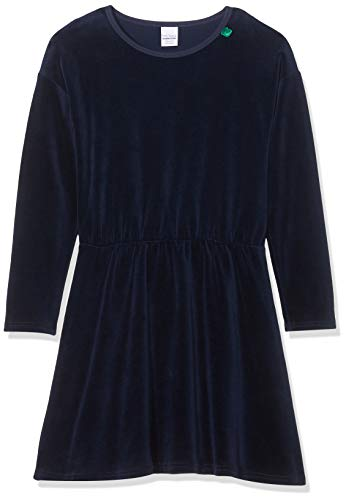 Fred's World by Green Cotton Mädchen Velvet Dress Kleid, Blau (Navy 019392001), (Herstellergröße:134)