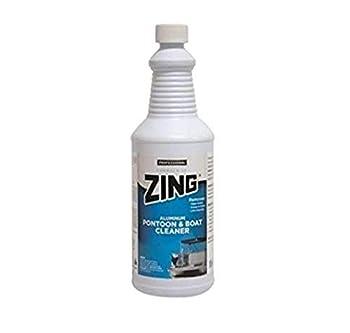 Zing 188 WHITE Professional Aluminum Pontoon & Boat Cleaner  1 quart  32 Fluid_Ounces