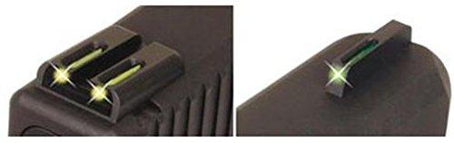 TFO Tritium/Fiber-Optic Day/Night Handgun Sights, Grn/Grn, Glock 17 / 17L,19,22,23,24,26,27,33,34,35,38,39