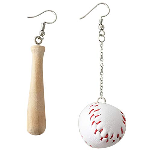 Yeptop Sportswear Holz Drop Ohrringe Asymmetrische Baseball Schläger Ohrringe Fashion Jewelry