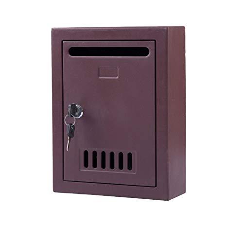 HMBB Postfach-Mailbox, Familienmailbox, Wandmontage Postfach, Outdoor-Mailbox, Residential Mailbox, kreative Schönheitsgarten-Gartenarbeitsmontage Postfach