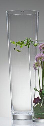 Konische Glasvase Vase Glas Blumenvase Bodenvase groß 70 cm