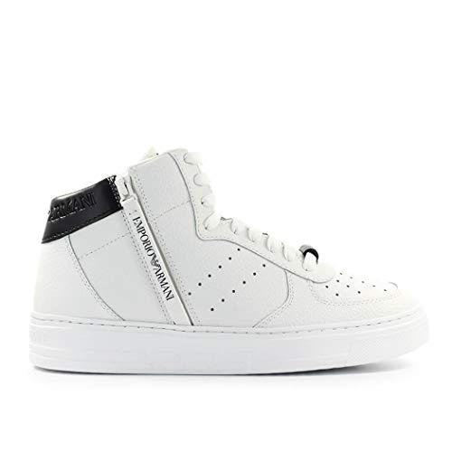 Emporio Armani Weiss Schwarz Hoch Sneaker 44 SS 2020