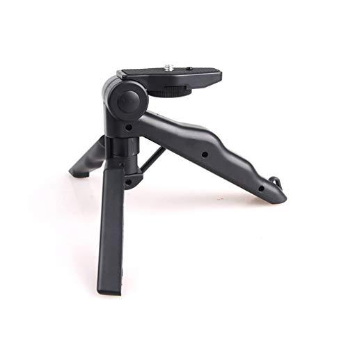 Temporizador automático de Escritorio Luz de Relleno Clip de teléfono de plástico Soporte de Bolsillo Trípode Accesorios de cardán de Mano Piezas Negro, Uniquelove