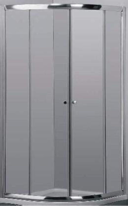 Duschwand abgewinkelt transparent 2030–90C 90x 90m