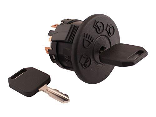 SECURA Zündschloss 7-Pol. kompatibel mit Husqvarna, MTD, John Deere etc. Rasentraktor