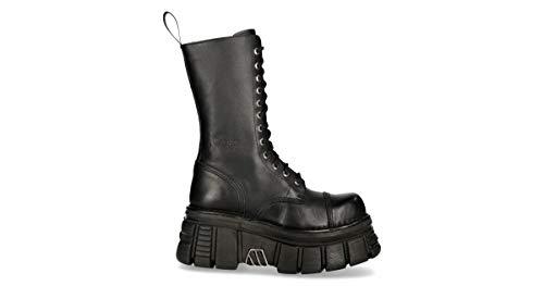 New Rock Schuhe Shoes Boots Stiefel MILI211 Platform Plateau Gothic (44 EU, Schwarz)