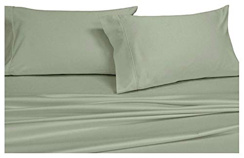 Royal Hotel Solid Sage 1000-Thread-Count Super-Deep 4pc Queen Bed Sheet Set 100% Cotton, Sateen Solid, Extra Deep Pocket