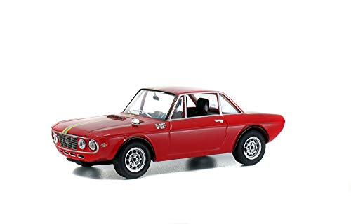Solido S4304100 1:43 Lancia Fulvia Fanalone 421436500-1, modelauto, modelvoertuig, rood