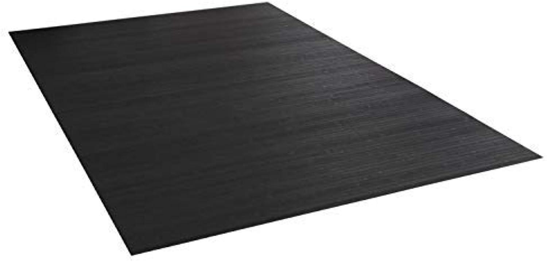 Bambusteppich Massive Ebony, 140x200 cm, 17mm gehrtete Stege die Neue Generation Bambusteppich kein Bordürenteppich  Teppich  Wohnzimmer  Küche DE-Commerce