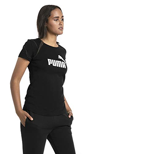 PUMA Damen ESS Logo Tee T-Shirt, Cotton Black, L