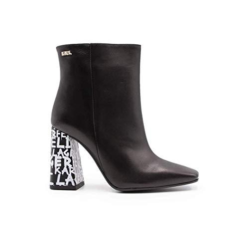 KARL LAGERFELD KL33040 Stiefel aus Leder schwarz mit Absatz 37 W IT
