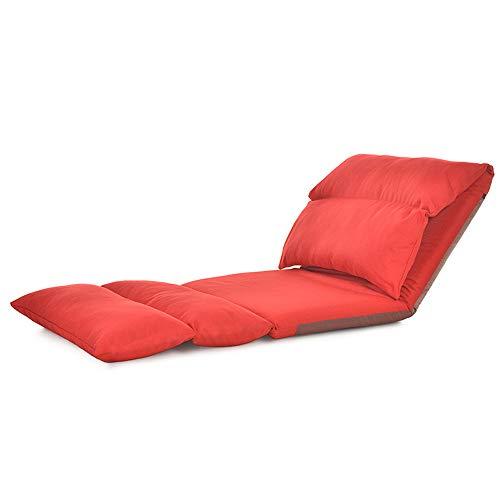 AiHerb.LO JL HX Canapé Paresseux en Tissu De Style Japonais Simple Tatami Pliant Loisirs Fenêtre Flottante Chaise Lit Chaise A+ (Couleur : C)