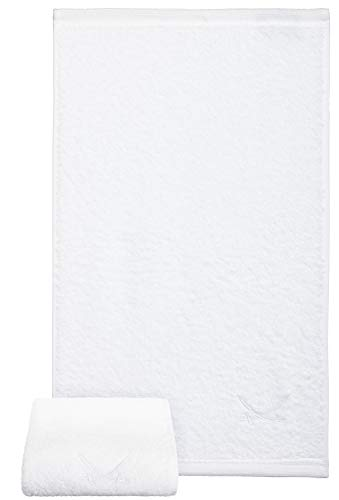Sansibar gastendoekje met geborduurd sabel-logo, handdoek, zeepdoekje, 100% katoen, 50 x 30 cm