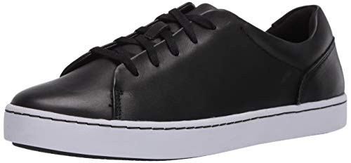 Clarks womens Pawley Springs Sneaker, Black Leather, 7.5 US