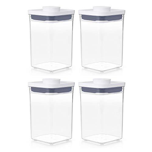 OXO 11234000 Good Grips Pantry Organization Airtight Short 1.1 Quart Bulk Food Storage POP Container...