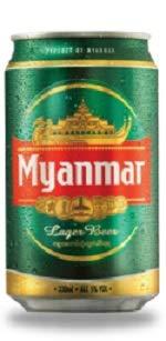 ミャンマービール社 ミャンマー ビール 缶 330ml/24本.fe