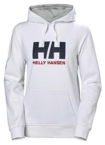 Helly Hansen W Hh Logo Hoodie, Sudadera con capucha para Mujer, Blanco (Blanco 001), Medium