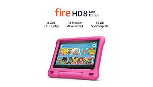 Fire HD 8 Kids Edition-Tablet, 8-Zoll-HD-Display, 32 GB, pinke kindgerechte Hülle