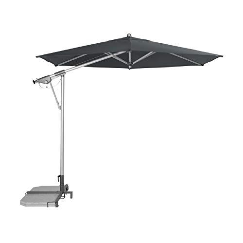 """Doppler Pendelschirm AX Alu-Pendelschirm 290cm """"Made in Europe"""" – 6-teilig – Sonnenschirm für Balkon, Garten – Neigbar – Wasserdicht – 290 cm – Anthrazit"""