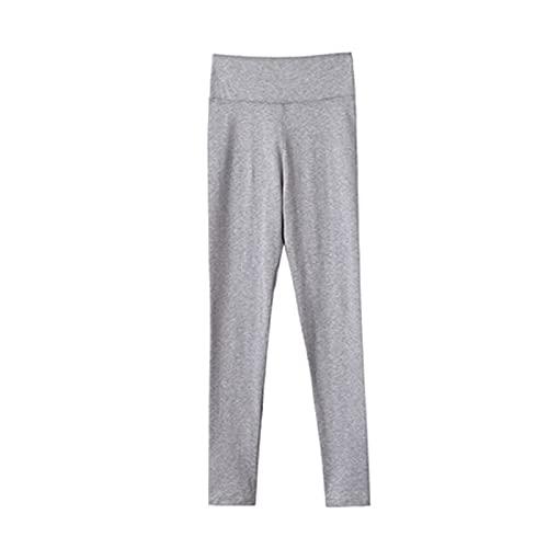 WYWY Leggings apretados de cintura alta femenina leggings de algodón elásticos delgados (104 cm M)